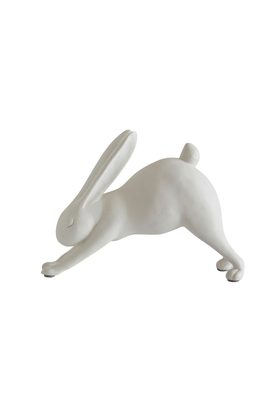 Downward Dog Yoga Rabbit - White