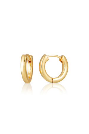 small gold huggie earrings