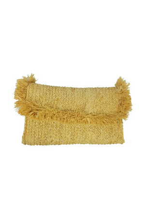 Fringe Clutch - Natural