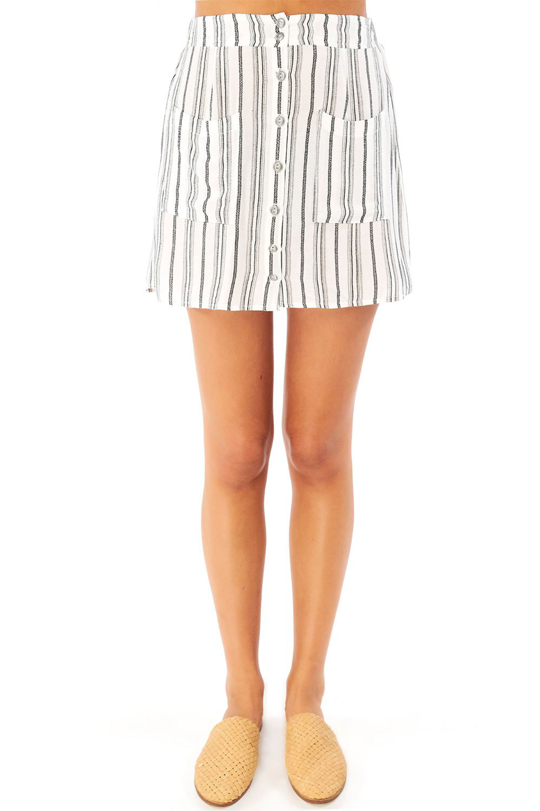 Cannes Striped Mini Skirt