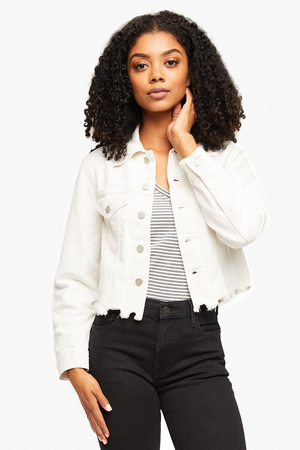 Cropped Jacket  - Marisa Wash - Ivory