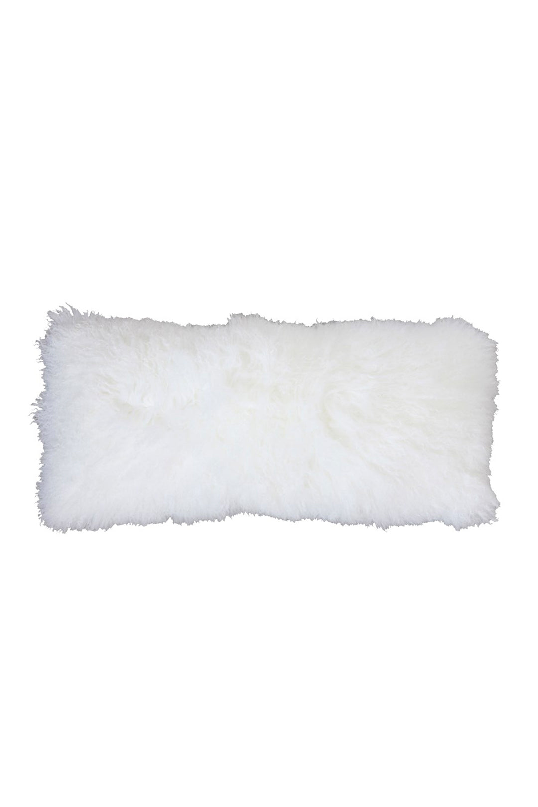 Mongolian Lamb Fur Pillow - White