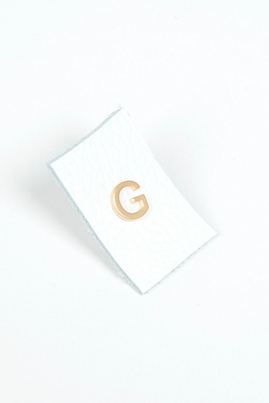 Matte Gold Initial Studs - Single Earring