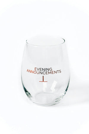 Evening Announcements Wine Glass
