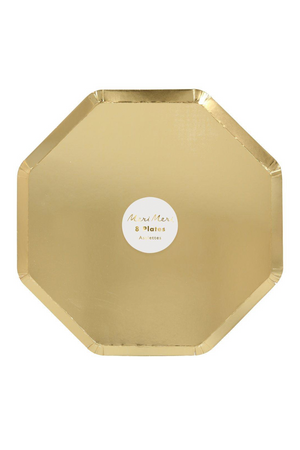 Gold Large Dinner Plates