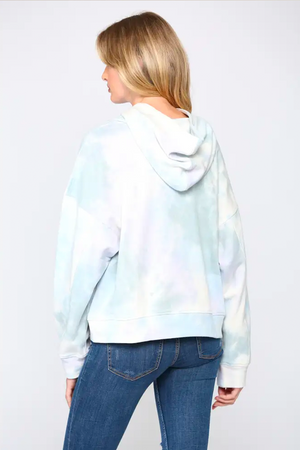 Tie Dyed Hooded Sweatshirt
