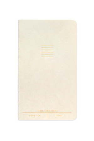 Ivory single flex undated planner 7.5x4.4