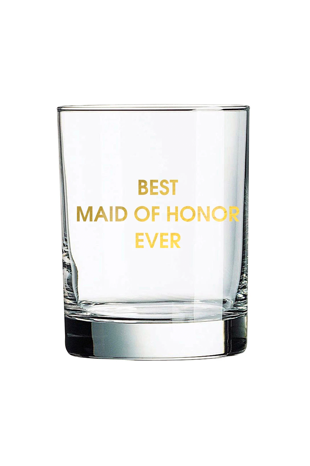 best maid of honor glass