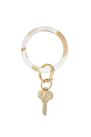 Silicone Big O® Key Ring - Gold Rush Marble