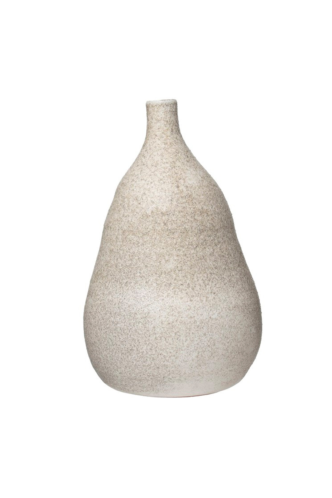 cream distressed vase