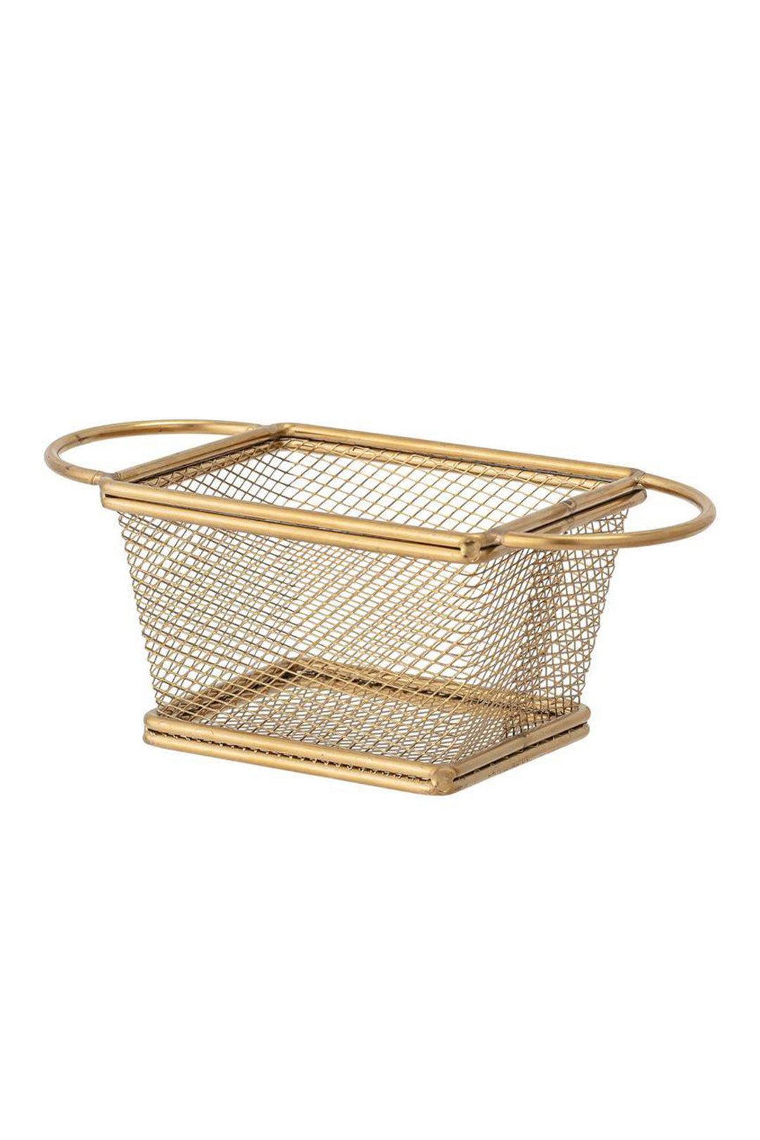 Stainless Steel Mesh Basket w/Gold Finish