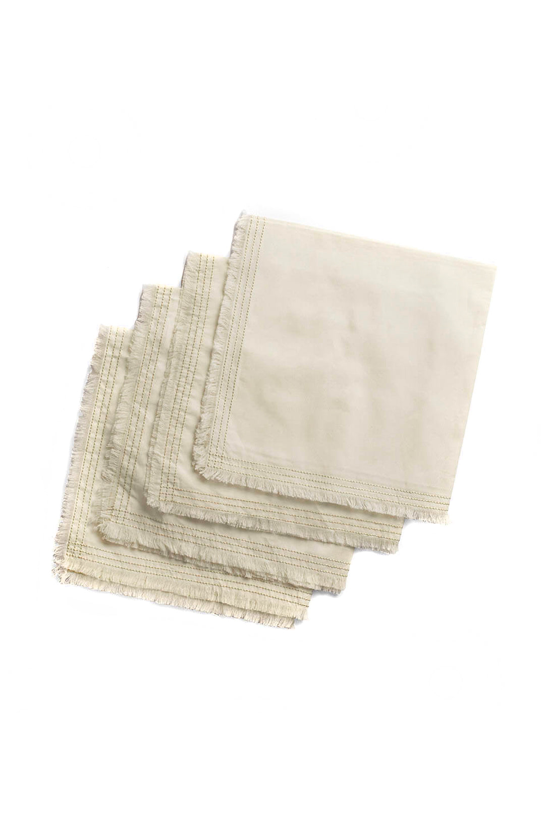 Organic Cotton Percale Napkin - Cream, Set of 4