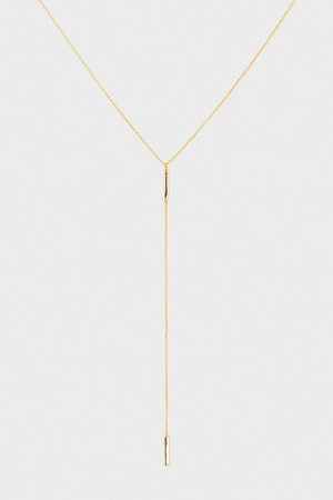 Taner Bar Short Lariat - Gold