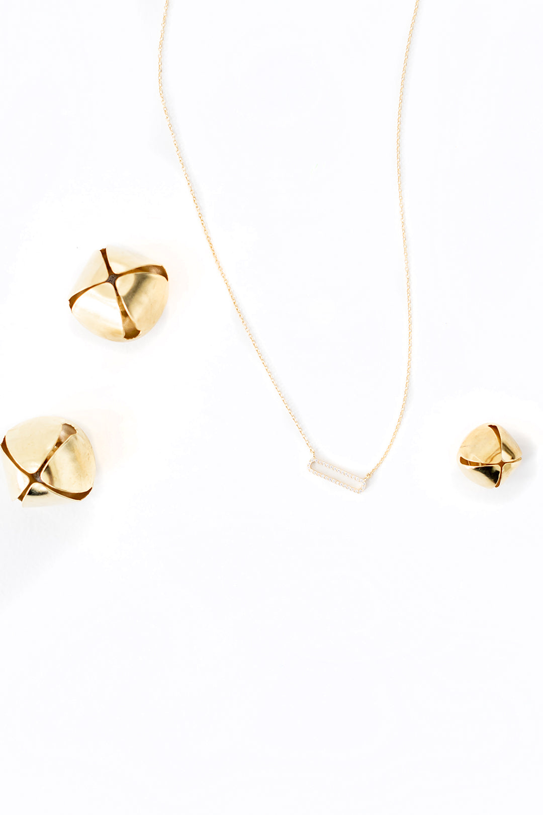 gold plated rectangle necklace
