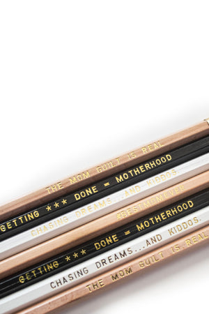 Mommying Ain't Easy Pencils, Set of 7
