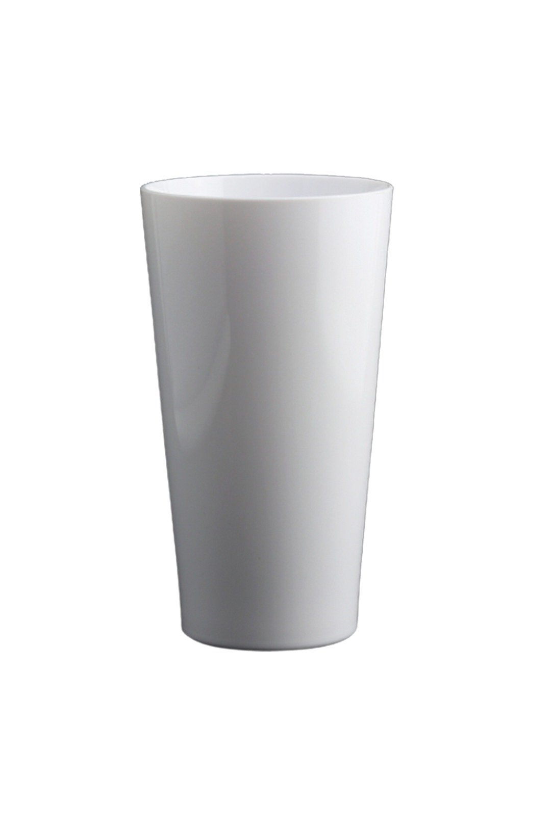 16 oz. White Pint Glass