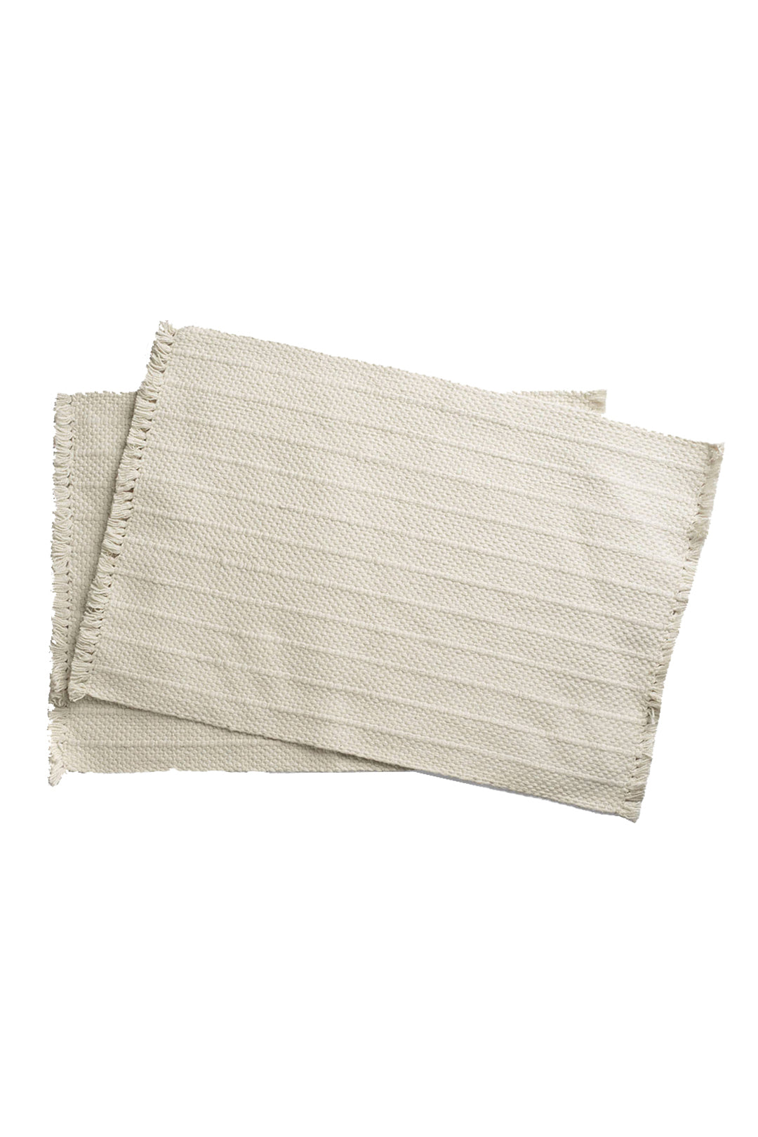 Woven Cotton Placemat - Cream, Set of 2
