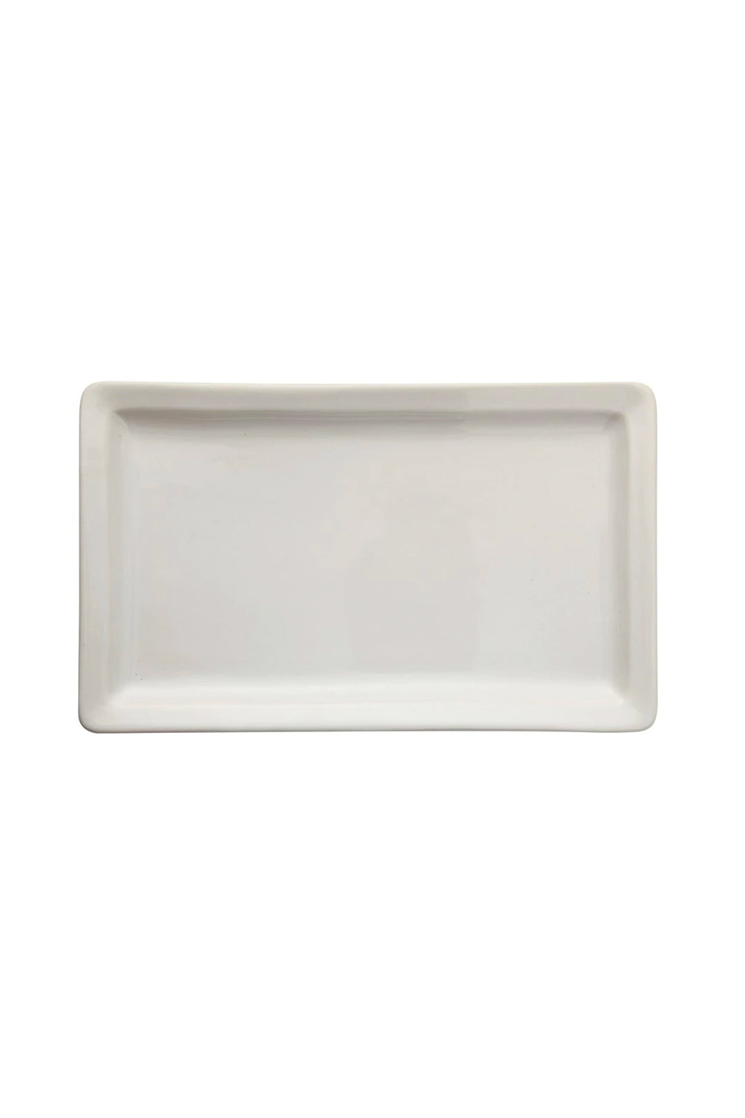 stoneware vintage platter in antique white