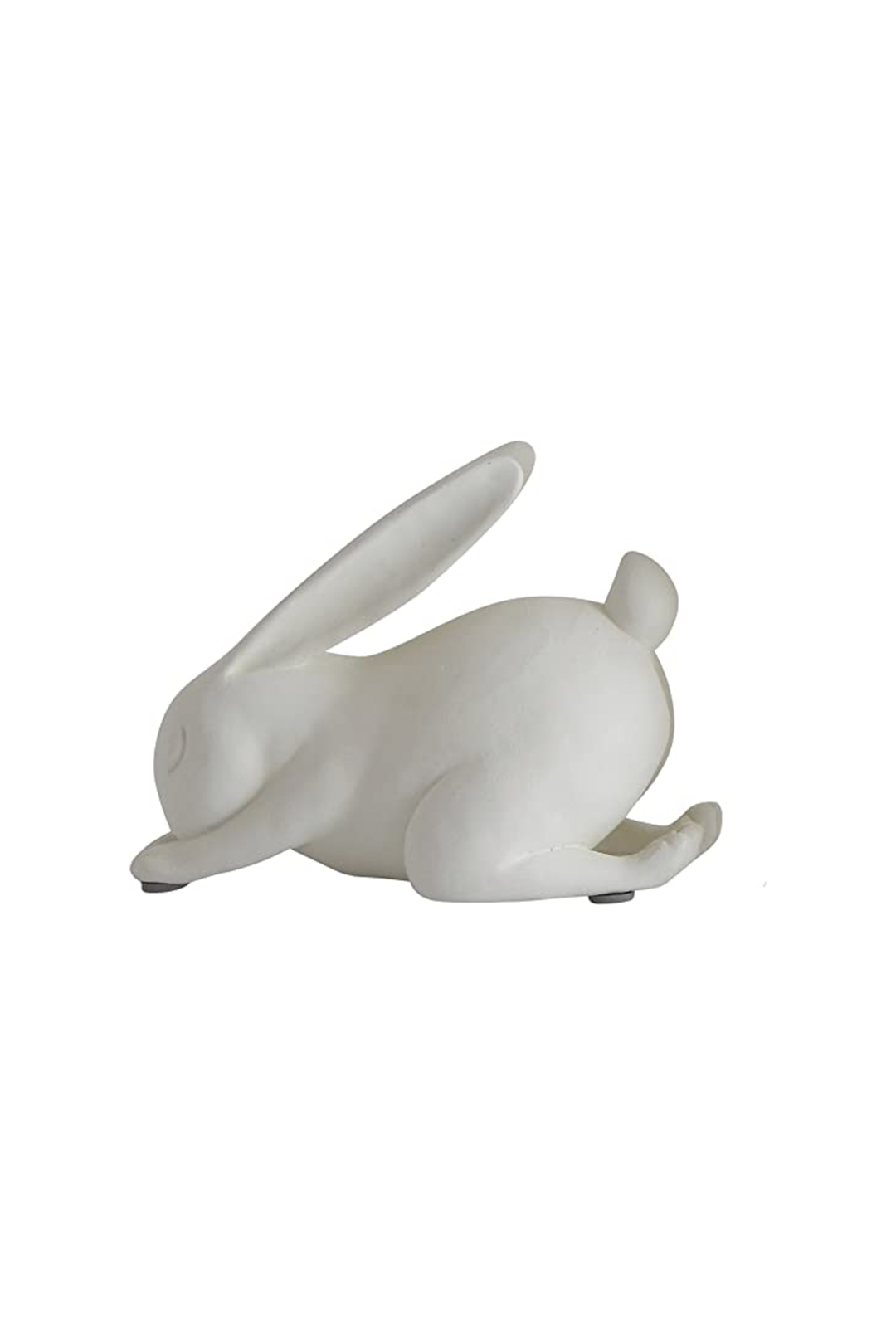 White Resin Forward Bend Yoga Rabbit