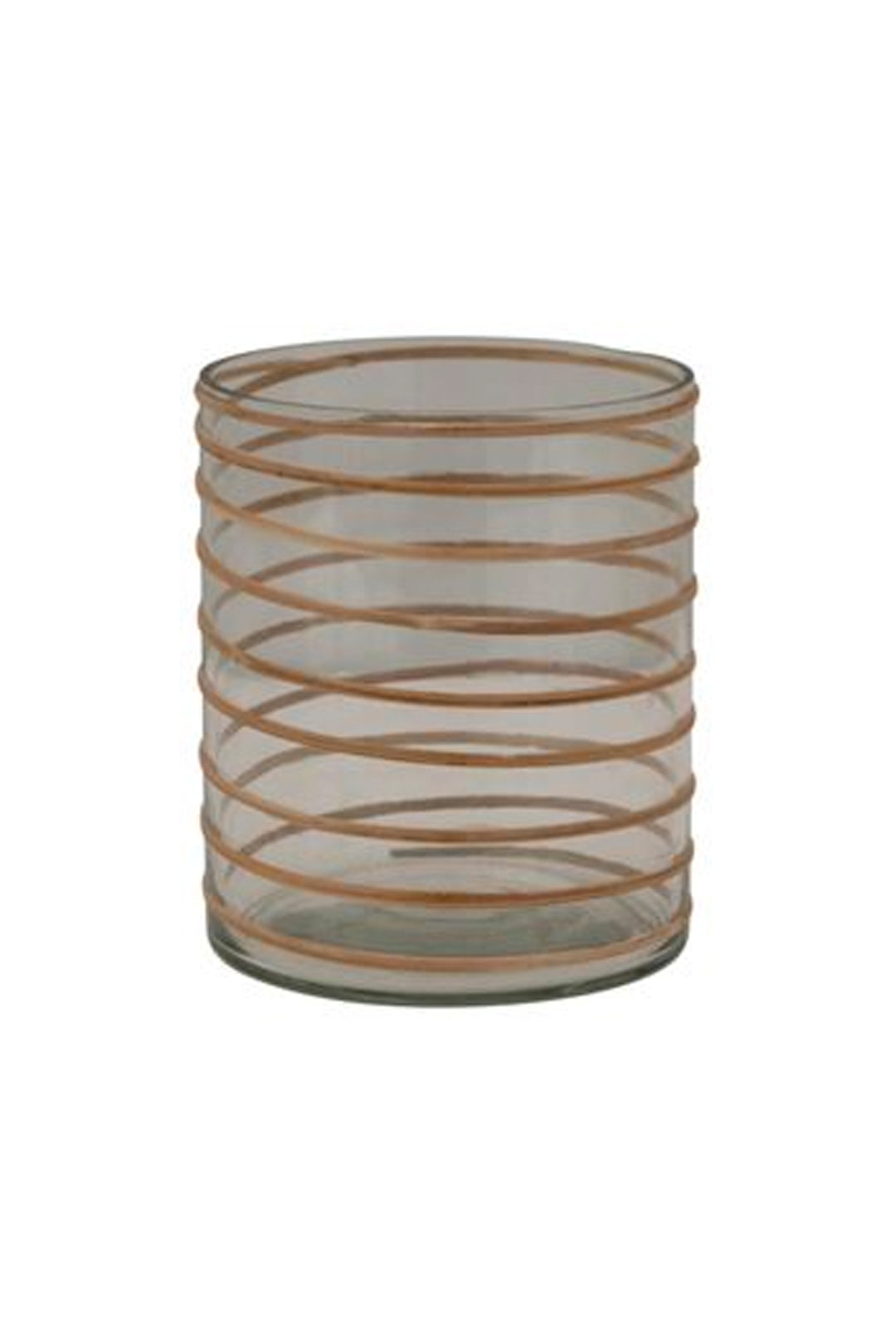 "5""H glass rattan wrapped vase"