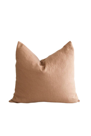 Square Washed Linen Pillow - Sand