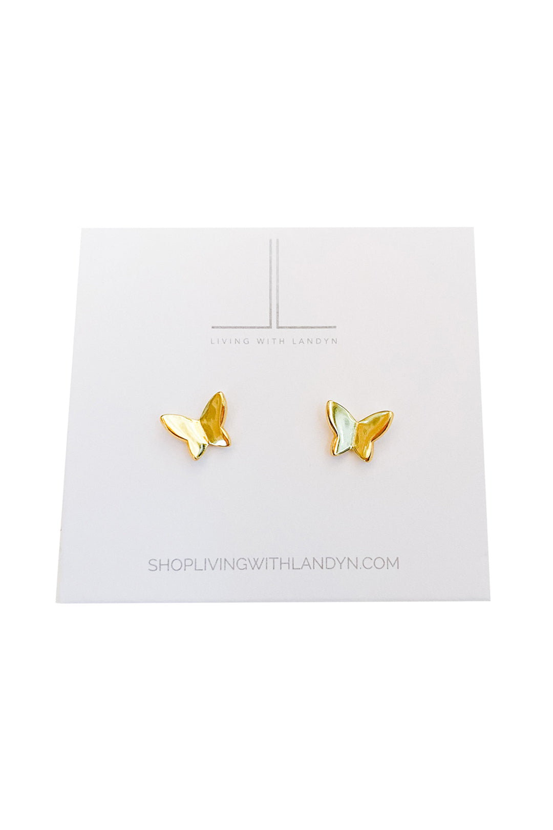 Smooth Butterfly Studs