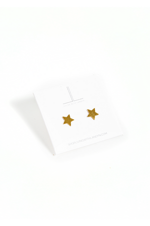 Gold Star Solid Studs