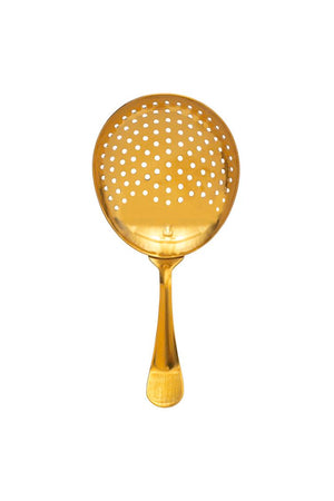 Stainless Steel Strainer w/Gold Finish