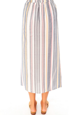 Lena Midi Skirt Cool Stripe
