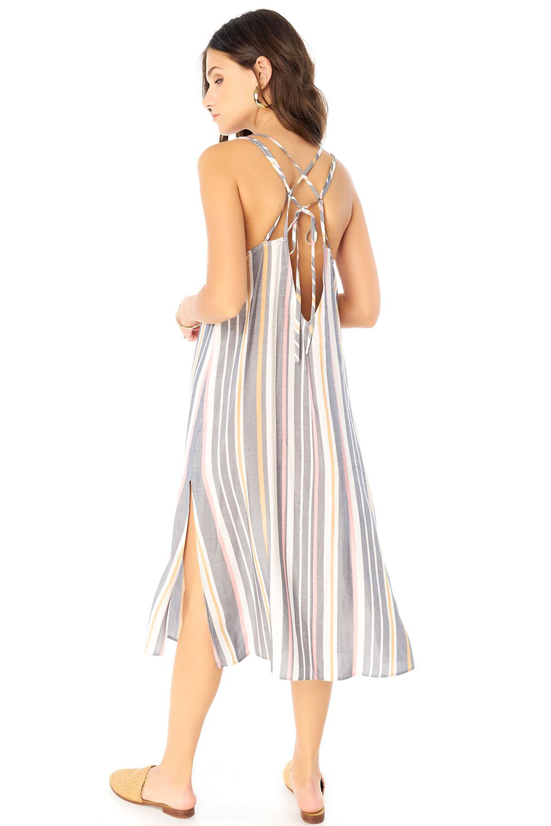 Lily Midi Dress Cool Stripe