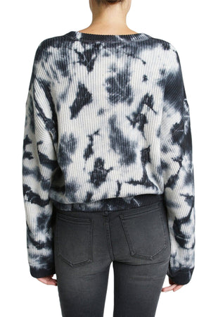 Eva Cropped Sweater - Black Storm