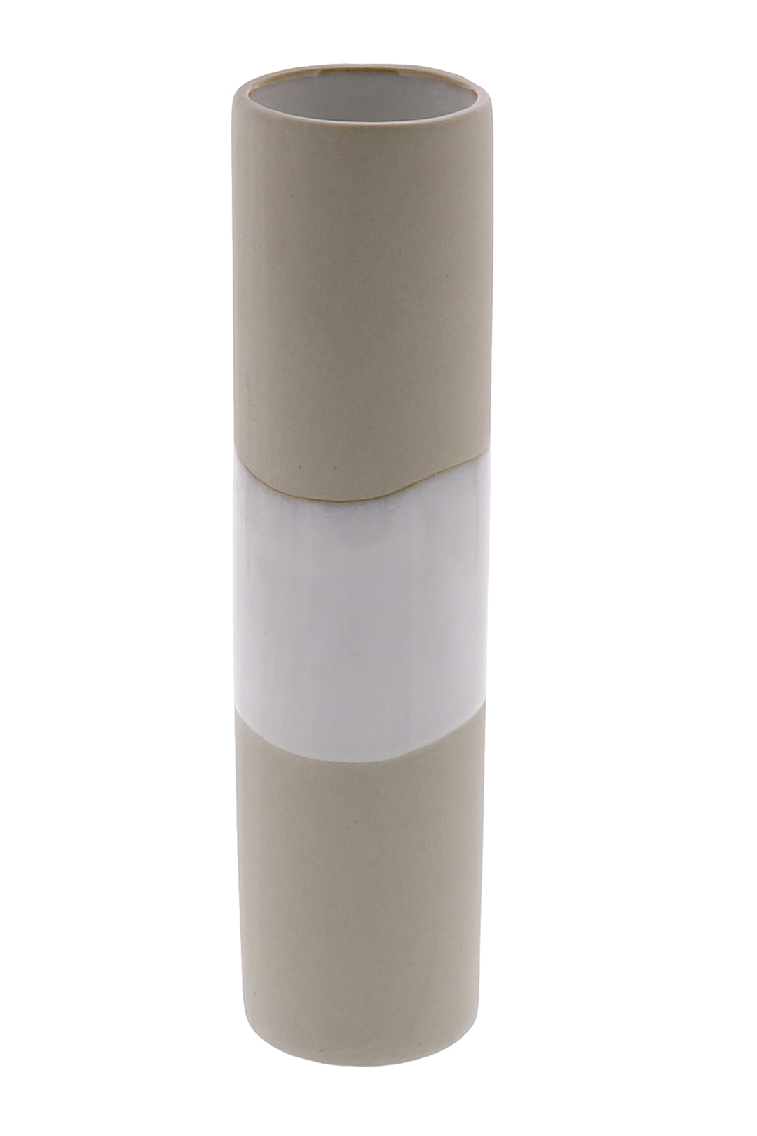 Shore Ceramic Cylinder Tall Vase