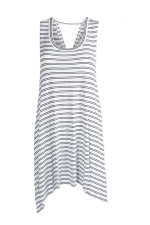 Now or Never Midi Dress - White Double Stripe