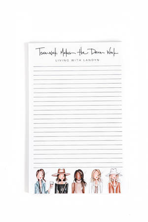 Teamwork Makes The Dreamwork Notepad