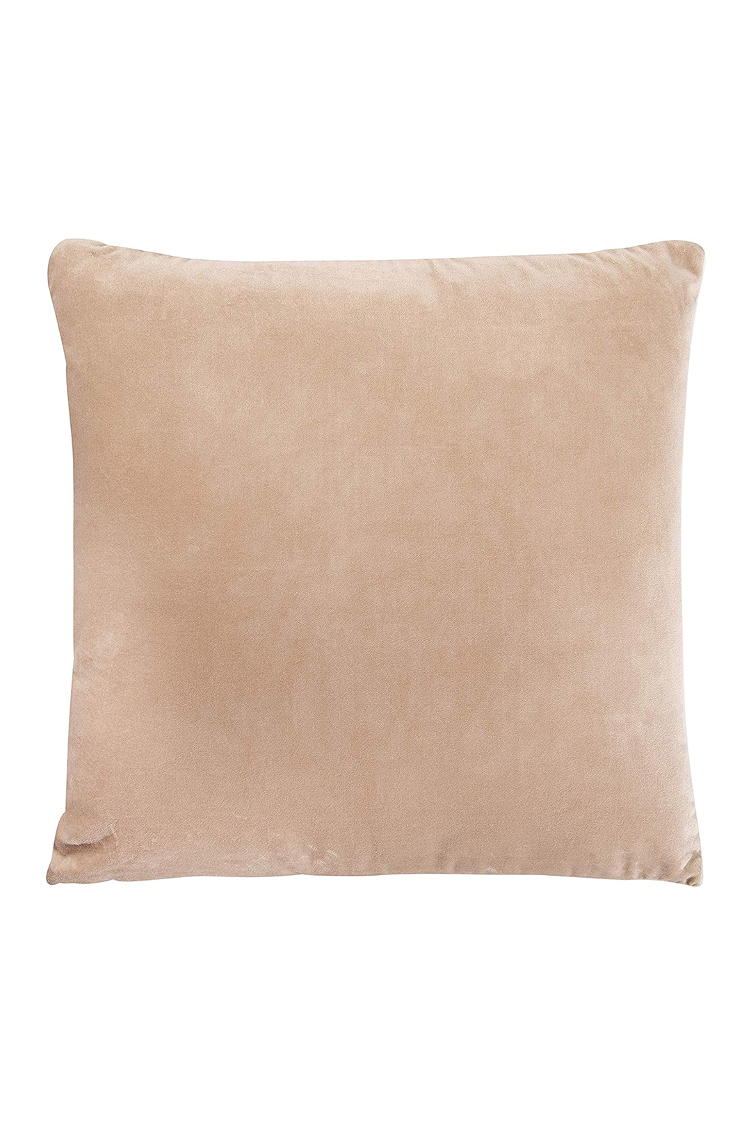 Cotton Velvet Pillow - Roasted Cashew