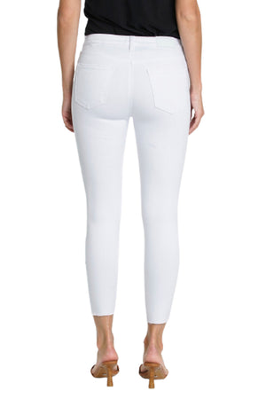 Audrey Mid-Rise Skinny Crop - Wrecked Pearl