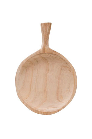 Decorative Paulownia Wood Tray w/Handle