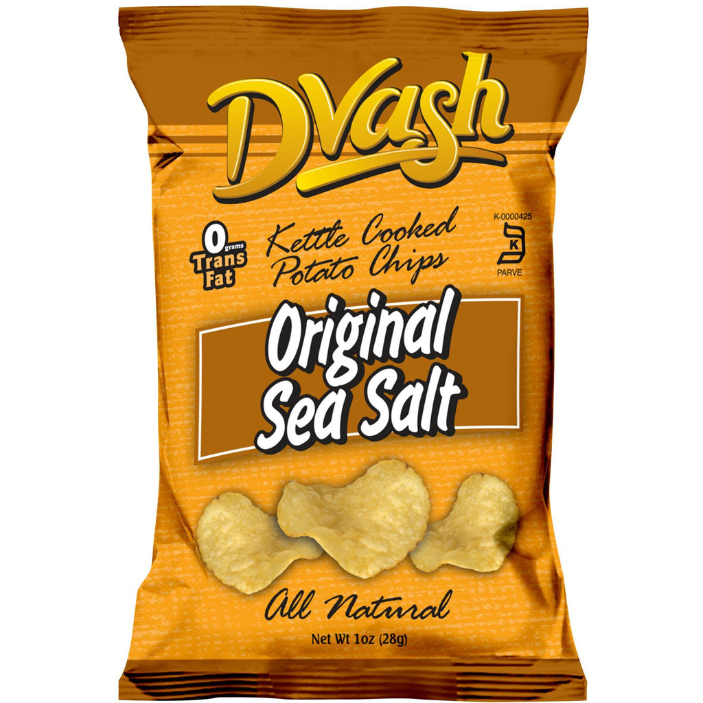 Dvash - Kettle Cooked Potato Chips - Sea Salt - 80/1 oz