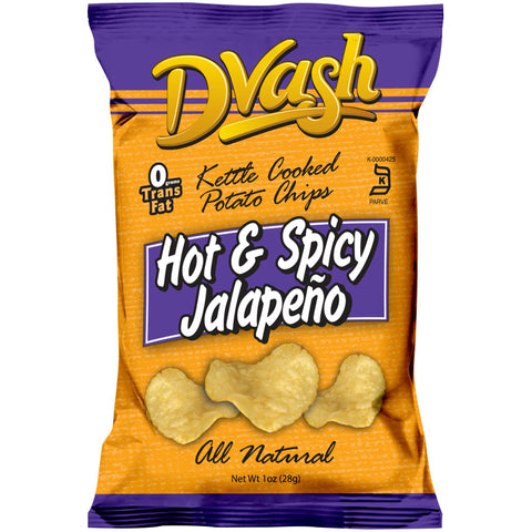 Dvash - Kettle Cooked Potato Chips - Jalapeno - 80/1 oz