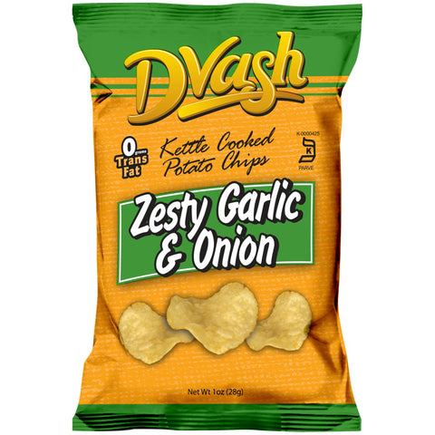 Dvash - Kettle Cooked Potato Chips - Onion & Garlic - 80/1 oz