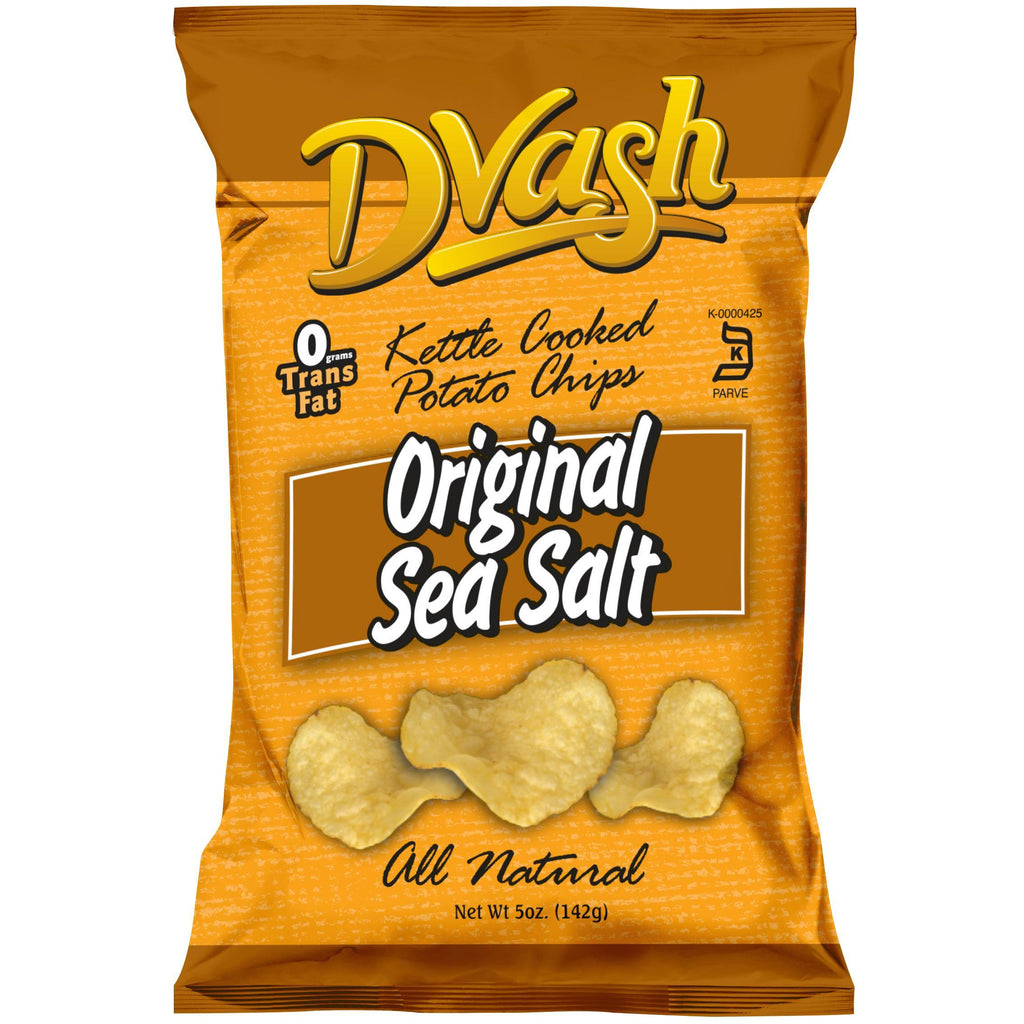 Dvash - Kettle Cooked Potato Chips - Sea Salt - 12/5 oz