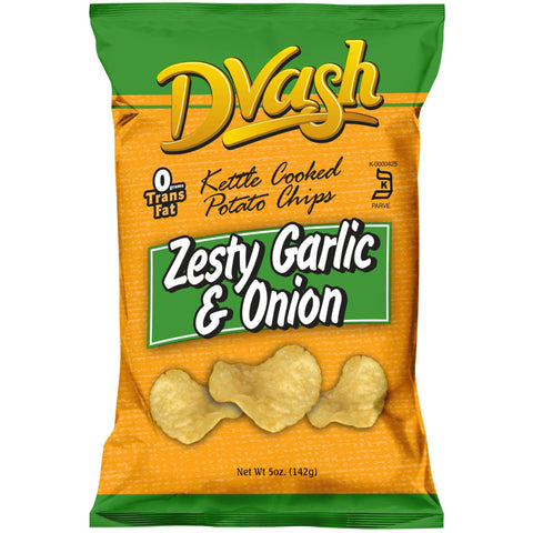 Dvash - Kettle Cooked Potato Chips - Onion & Garlic - 12/5 oz