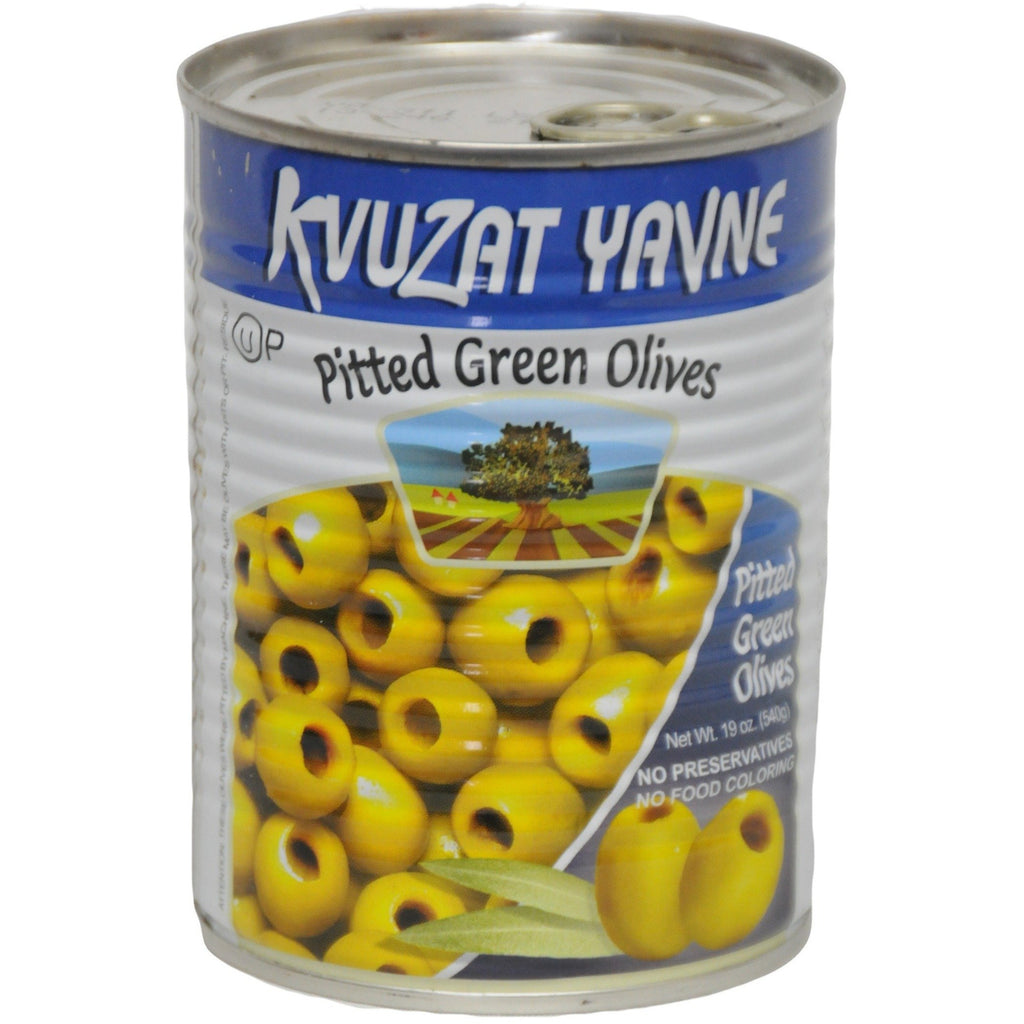 Green Pitted Olives 24/19 oz