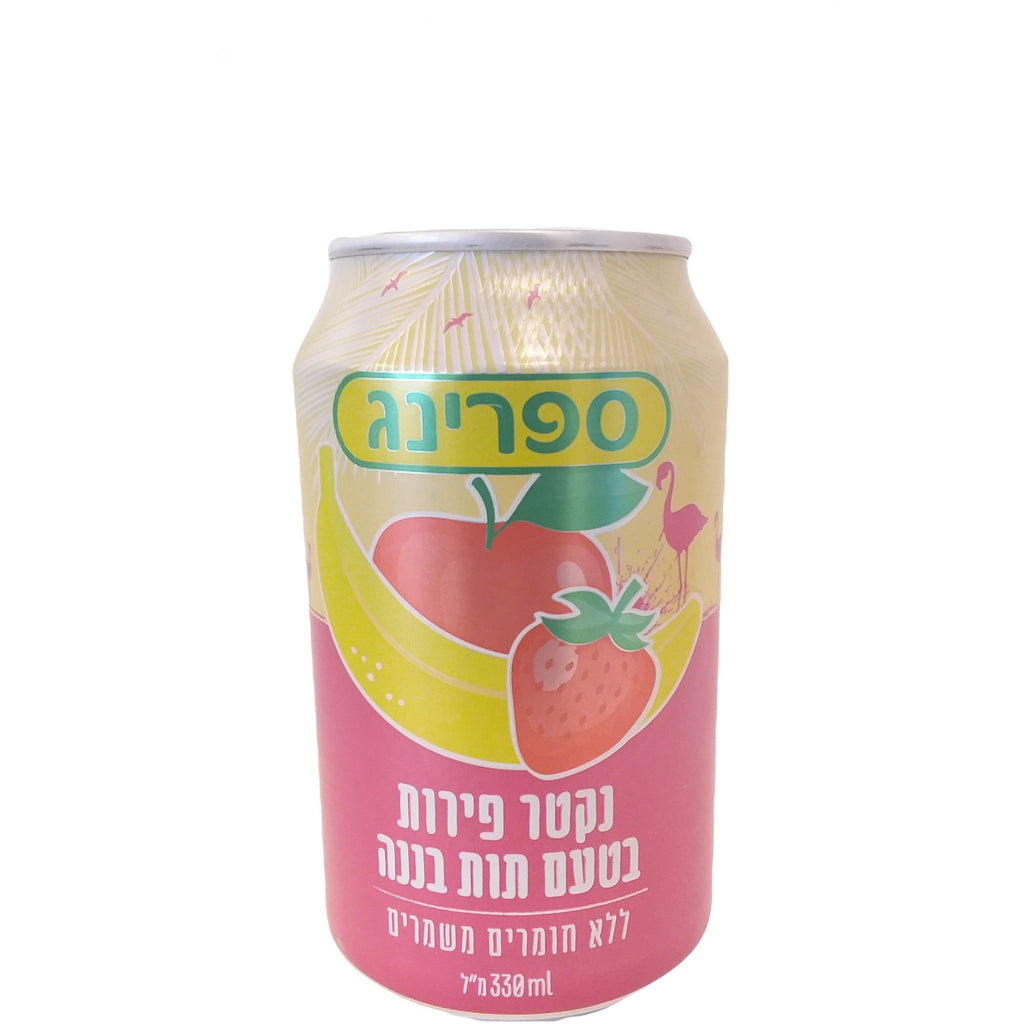 Spring Can - Fruit Drink - Strawberry-Banana 24/330ml