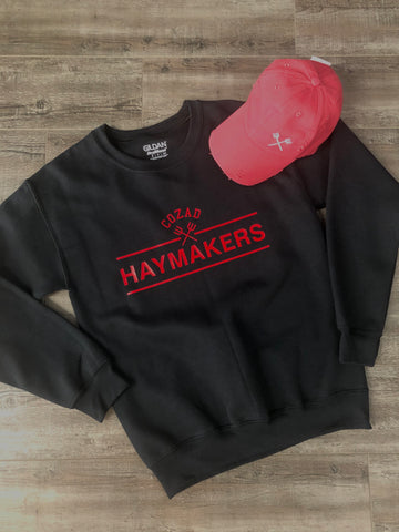 Black Haymakers Crewneck Sweatshirt