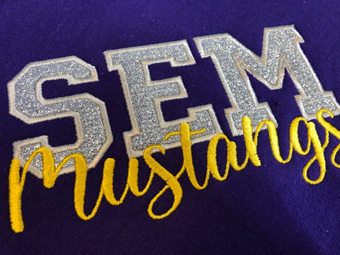 SEM Mustangs Stadium Blanket