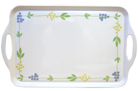 "Corelle Coordinates 11.5"" x 18"" Melamine Serving Tray Secret Garden"