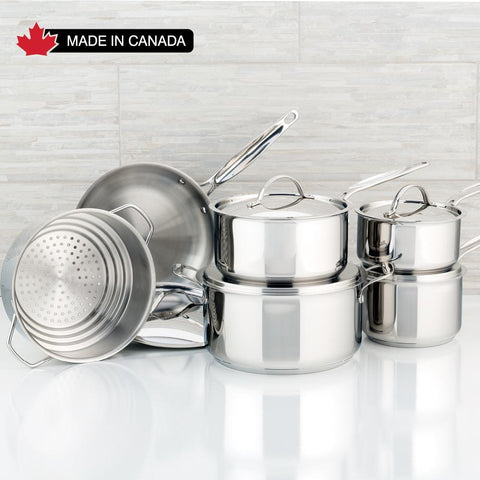 Confederation Stainless Steel Cookware Set, 11-Piece Meyer, Made in Canada