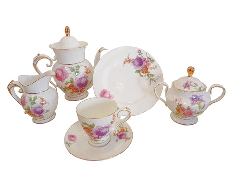 21 piece Bone China Tea Set