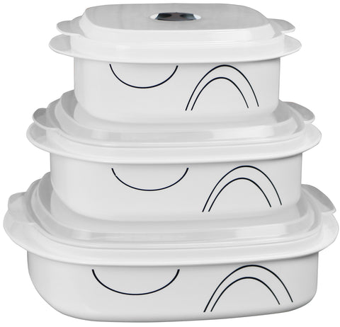 Corelle Coordinates Microwave Cookware & Storage Set Simple Lines